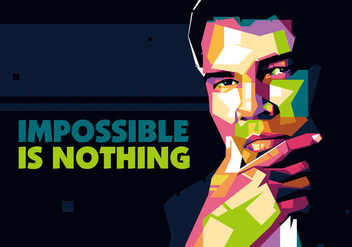 The Great Ali in WPAP - Free vector #402631