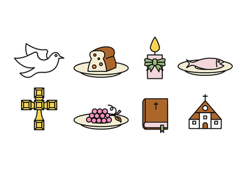 Comunion vector icons - Free vector #402661