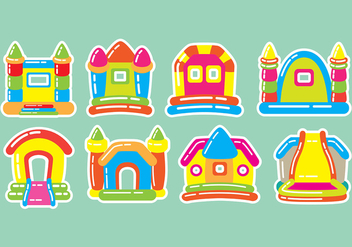 Bounce House Icons - Free vector #402671