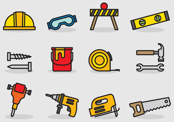 Cute Construction Tools - vector #402691 gratis