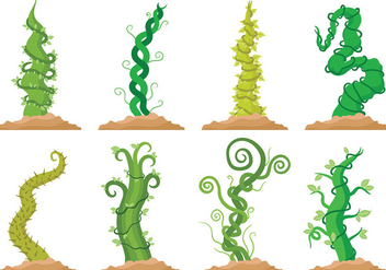 Free Beanstalk Icons Vector - Free vector #402721
