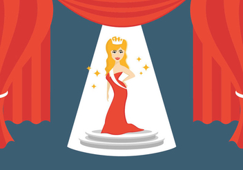 Illustration Of Pageant Queen - vector #402741 gratis