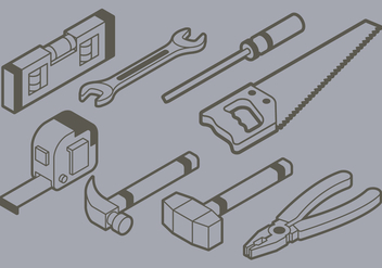 Isometric DIY Tools Icon - vector gratuit #402781