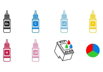 Ink Cartridge Icon Vectors - бесплатный vector #402791