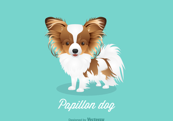 Free Vector Papillon Dog - vector gratuit #402851