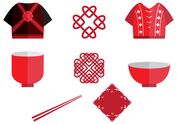 Chinese Wedding Icon Element - Free vector #402931