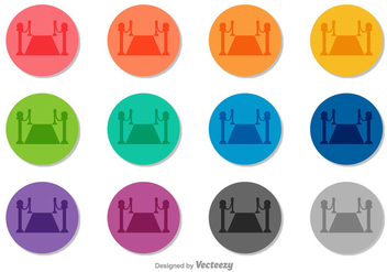 Velvet Rope Vector Icons - бесплатный vector #402951