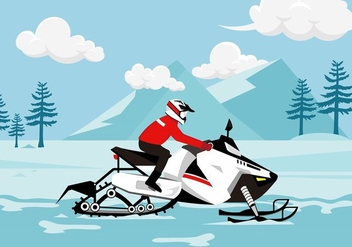Snow Mobile Free Vector - бесплатный vector #402991