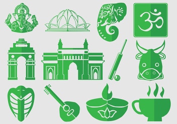 Icon Set Of India - Free vector #403051