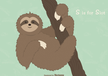 Free Sloth Vector Illustration - Kostenloses vector #403071