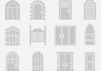 Gray Door Portal Vectors - бесплатный vector #403131