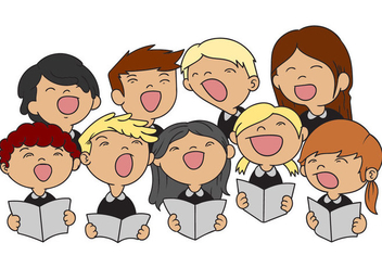 Free Kids Choir Illustration Vector - Kostenloses vector #403161