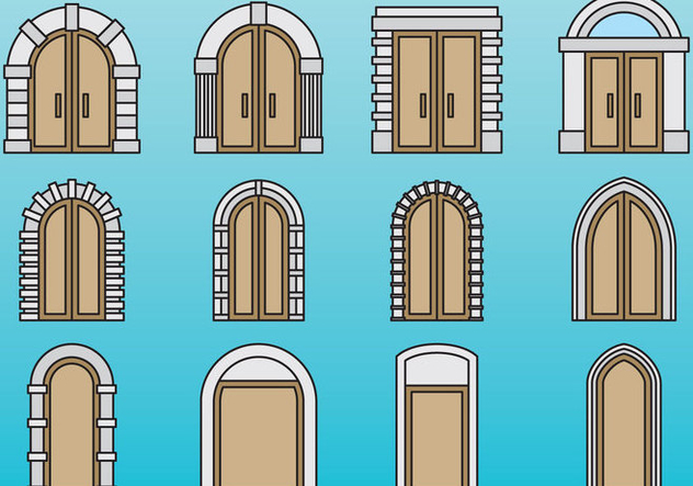 Cute Doors And Portals - Free vector #403241
