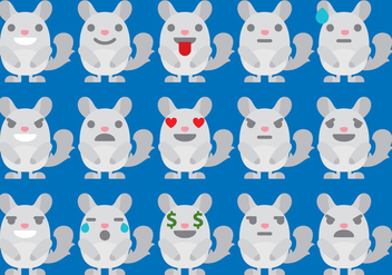 Chinchilla Emoticons - бесплатный vector #403251