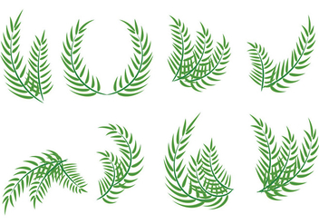 Palm Sunday Leaf Vectors - бесплатный vector #403291