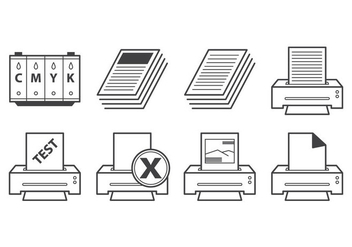 Free Printer Icon Vector - vector gratuit #403341