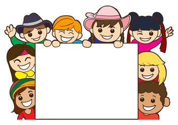 Free Childrens Day Card Template Vector - Free vector #403371
