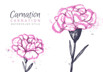 Free Carnation Flowers Background - Free vector #403591