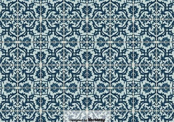 Vector Background of Portuguese Tiles Azulejos, - Free vector #403611