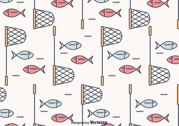Fish Net Vector Pattern - vector gratuit #403661