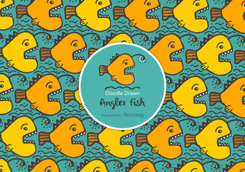 Free Doodle Drawn Angler Fish Vector Background - Free vector #403701
