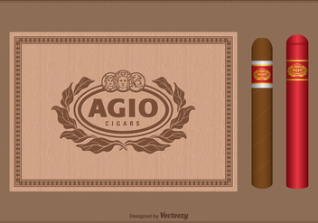 Free Vector Vintage Cigar Label Set - Free vector #403741