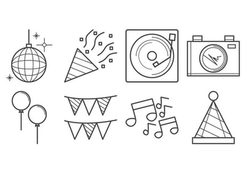 Free Party Icon Vector - Kostenloses vector #403851