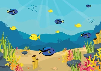 Free Seabed Illustration - Free vector #403961