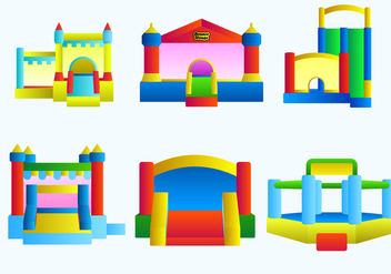 Bounce House Free Vector - бесплатный vector #404001