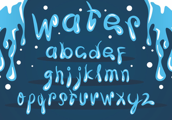 Ice Water Font Vector Set - Free vector #404021