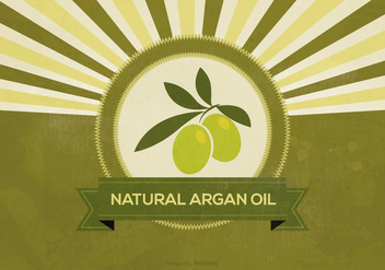 Retro Argan Oil Illustration - vector gratuit #404201