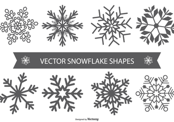 Snowflake Vector Shapes - vector #404211 gratis