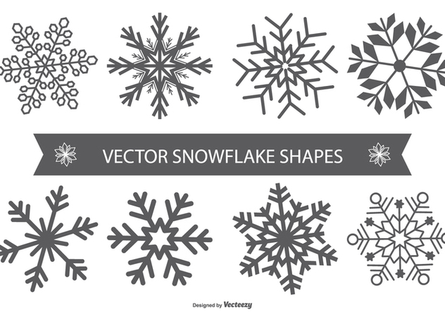 Snowflake Vector Shapes - Kostenloses vector #404211