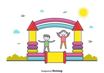 Bounce House Vector - бесплатный vector #404301