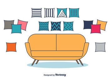 Decorative Pillows Vector - Kostenloses vector #404321