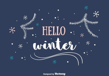 Hello Winter Background - vector #404331 gratis