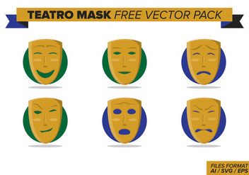 Teatro Mask Free Vector Pack - Free vector #404361