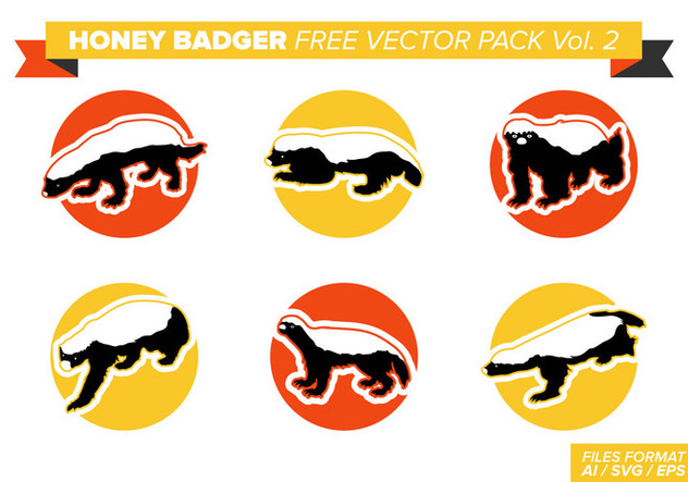 Honey Badger Free Vector Pack Vol. 2 - Free vector #404371