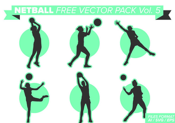 Netball Free Vector Pack Vol. 5 - vector #404381 gratis