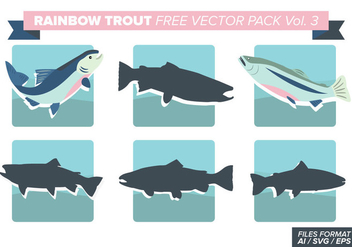 Rainbow Trout Free Vector Pack Vol. 3 - Free vector #404391