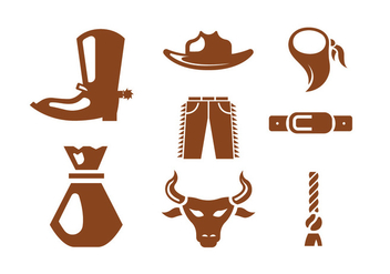 Rodeo Vector Icons - vector gratuit #404431