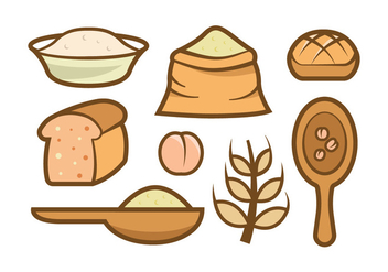 Oats Meal Vector Icons - vector #404441 gratis