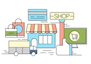 Free Shop Vector Illustration - Free vector #404641