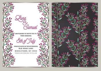 Vector Wedding Invitation - Free vector #404651
