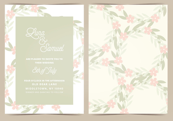 Vector Wedding Invitation - бесплатный vector #404661
