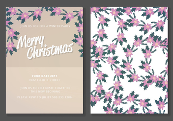 Vector Christmas Card - vector gratuit #404701