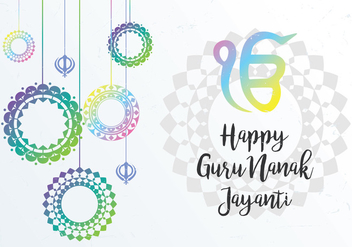 Guru Celebration Background - vector gratuit #404721