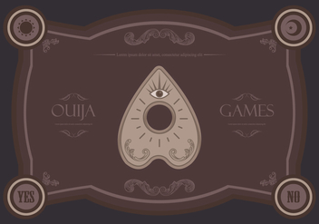 Ouija Magic Games Illustration - бесплатный vector #404771
