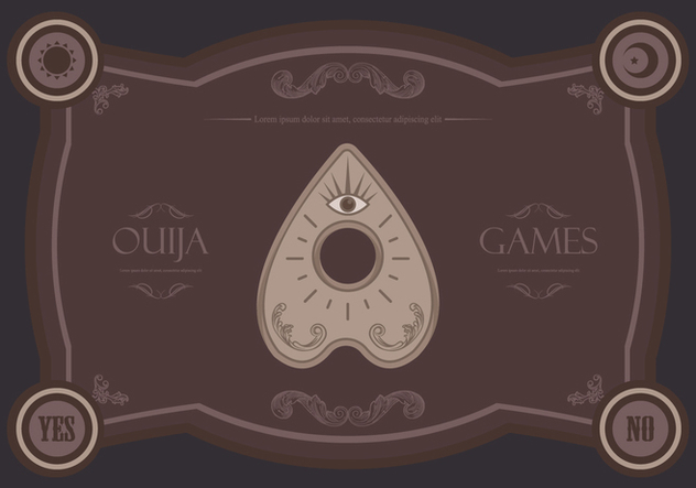 Ouija Magic Games Illustration - vector #404771 gratis
