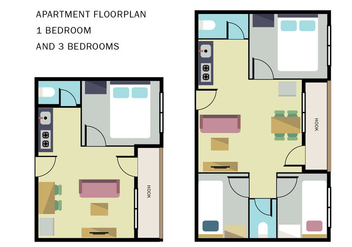Apartment Floorplan - vector gratuit #404811